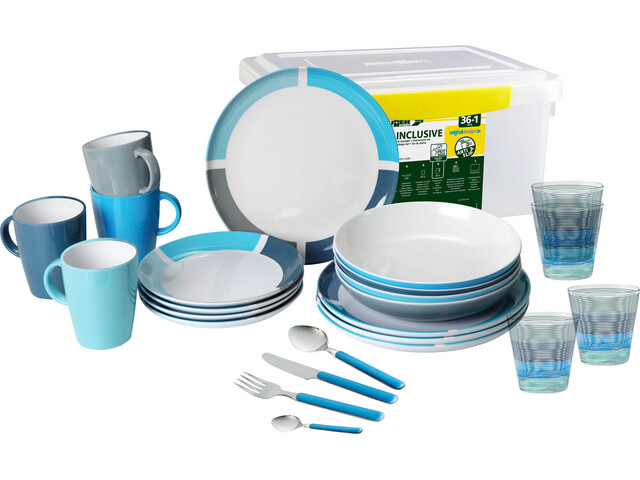 Brunner All Inclusive Geschirrset blue/white